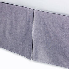 "Kenneth Cole 15"" Drop Bedskirt Full Cal King Amethyst Lilac Cream Gray Khaki NIP"