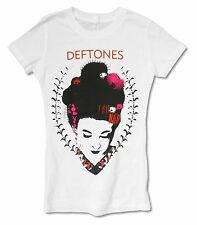 DEFTONES GEISHA WHITE BABYDOLL T-SHIRT NEW OFFICIAL BAND MUSIC JRS