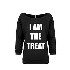 I AM THE TREAT Ladies' Off-the-Shoulder Lightweight Sweatshirt, Costume