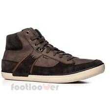 Shoes Geox Box HI U44R3B C6009 Sneakers Casual Moda Man Suede Coffee