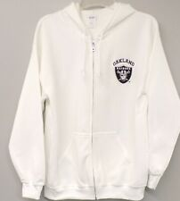 NFL Oakland Raiders Adult S-4X Embroidered Full Zip Hoodie New Super Nice!