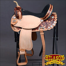 HILASON FLEX-TREE BARREL RACING TRAIL PLEASURE WESTERN SADDLE 14 15 16 17 18