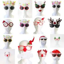 Christmas Xmas Party Glasses Photo Booth Props Costume Accessories Fancy Dress