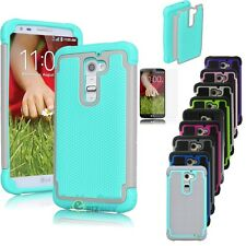 Impact Rugged Matte Hard Armor Case Cover For LG G2 D801 D802 LS980 D800 VS980