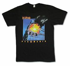 DEF LEPPARD PYROMANIA BLACK T-SHIRT NEW OFFICIAL ADULT BAND MUSIC