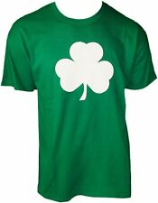 Screen Printed Green Irish Shamrock St Patricks Day Mens Ireland Tee Shirt S-4XL