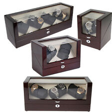Aevitas Watch Winder for 2, 4, 6 or 8 Automatic Watches Mahogany Lacquer Finish