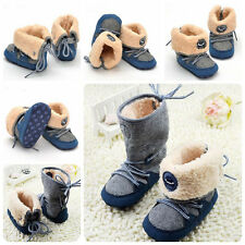 Baby Boys Girl Winter Warm boots Toddler infant Soft crib Shoes size 0-18months