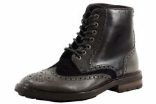 Hugo Boss Men's Weekifor Black Leather Fashion Ankle Boots Shoes