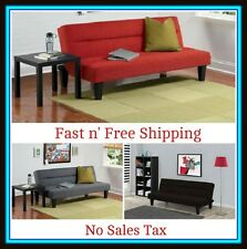 Microfiber Futon Sofa Bed Couch Living Room Furniture Loveseat Red Black Brown