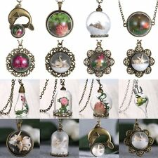 Fashion Glass Wish Bottle Necklace Flower Sea Snail Starfish Pendant Jewelry New