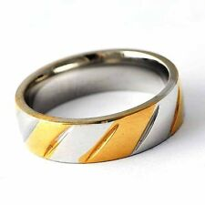 Fashion Twill Stainless Steel wedding ring 2 Tone Mens Womens Ring Size 8-12