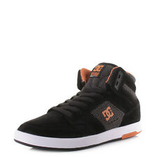 Mens Dc Shoes Nyjah High Se Black Orange Suede High Top Skate Trainers Uk Size