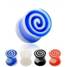 UV Flesh Saddle Plug Tunnel 4-8mm TORNADO 4 Colors NEW PIERCINGS from COOLBODY