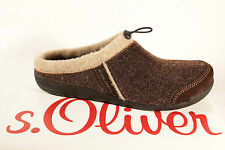 s.Oliver Men's Slipper, brown Removable footbed loose inserts suitable NEW