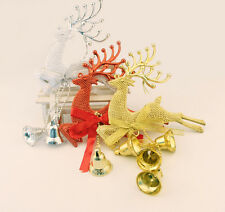 HOT Christmas Tree Ornament Deer Chital Hanging Xmas Baubles Party Decoration