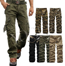 Army Camo Cargo Pants MILITARY Casual Trousers CAMOUFLAGE Military Combat 32-38