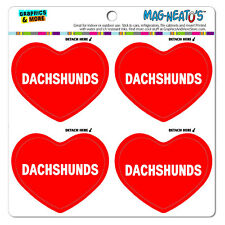 MAG-NEATO'S™ Car Refrigerator Vinyl Magnet Set I Love Heart Dogs D-M