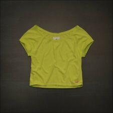NWT Hollister by ABERCROMBIE & FITCH Northside Tee Green Medium $19.5