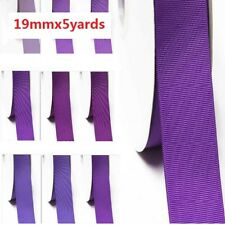 """by 5 Yards Grosgrain Ribbon 3/4"""" /19mm for Wedding , lilac Purple s color"""
