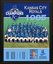 "KANSAS CITY ROYALS 1985 World Series Champions Team Commemorative 8x10"" Plaque"
