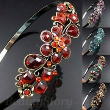 ADD'L Item FREE Shipping - Antiqued Rhinestone Flower Metal Hair Band Headband