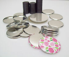 "1-1/2"" (1.5 inch) PERFECT FIT MAGNET METAL FLAT BACK Button Parts Various Qtys"