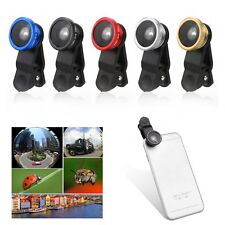 Universal 3in1 Clip On Camera Lens Fisheye +Wide Angle +Macro for Smart Phone