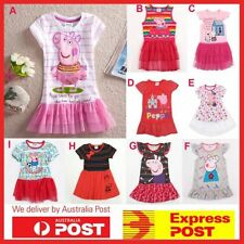NEW Girls Peppa Pig Tutu Dress Skirt Kids Clothing Tops Costume - SIZE 1--6