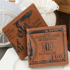 Stylish Men Genuine Leather Bifold Wallet Credit Card Holder Slim Coin Purse TR5