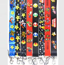 Lot Mixed Super Mario Bros Neck Straps Lanyards For Mobile Phone Key chain A048