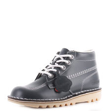 Womens Kickers Kick Hi Core Navy White Nat Leather Lace Up Ankle Boots Uk Size