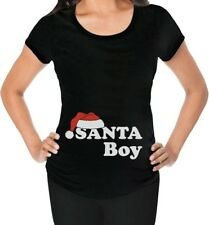 Santa Boy Christmas Baby Funny Pregnancy Gift Xmas Maternity Shirt Baby Shower