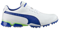 New 2016 Mens Puma TitanTour Ignite Golf Shoes White/Blue - Any Size