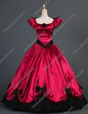 Southern Belle Victorian Princess Dress Ball Gown Vampire Halloween Costume 323