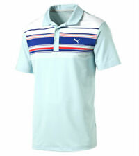 PUMA Golf Mens Rickie Fowler SS Key Stripe Polo Shirt NWT