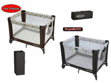 Airy Mesh Automatic Folding Portable Crib Bassinet Nursery Baby Bed Furniture