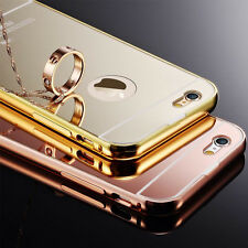 Luxury Aluminum Ultra-thin Mirror Metal Case Cover for iPhone 4s 5s 5c 6 6s Plus