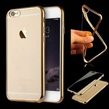 Luxury Soft Silicone Case Plating Frame Clear Back Cover For iPhone 6 6S 7 Plus