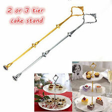 1 Set 2 or 3 Tier Cake Plate Stand Handle Crown Fitting Metal Wedding Party TB
