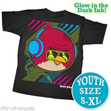 Angry Birds Youth Kids T Shirt Large 100% Cotton