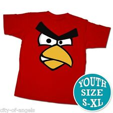 Angry Birds Youth Kids T Shirt Red Large 100% Cotton