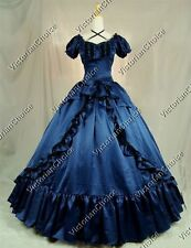 Victorian Old West Princess Dress Ball Gown Reenactment Theatre Punk Costume 206
