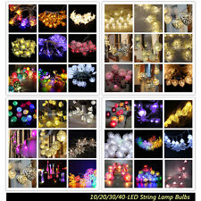 10/20/30/40-LED Battery Operated Wedding Xmas Decor String Lamp Fairy Lights