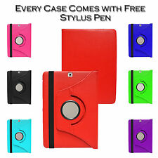 360° Rotate Premium Leather Stand Case Cover For Samsung Galaxy Tab S2 T810 9.7""
