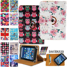 New Rotating Stand Leather Wallet Case Cover For Amazon Kindle Fire 7 8 10 -2015