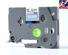 1-8 x TZE 535, TZ 535 tape white/blue for BROTHER P-TOUCH label printers