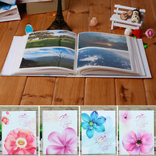 "Flowers Memo Slip In Family Friends Wedding Photo Album 6 x 4"" Hold 200 Photos"