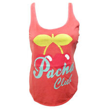 OFFICIAL Pacha Ibiza: Womens Club Vest w Crossover back Pink Tanktop RRP £40.00