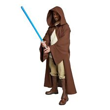 JEDI Obi Wan Wizard Costume STAR WARS CLOAK MONK adult Robe Brown